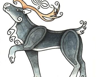 Celtic Critter - Caribou - Original