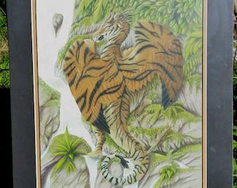 His Majesty's Domain - Original Colored Pencil