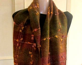 Handwoven earth color shades  scarf