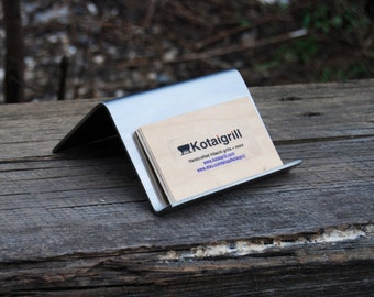Stainless Steel Business Card Holder- Smooth