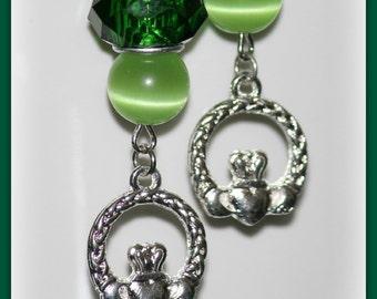 Claddagh Charm Earrings