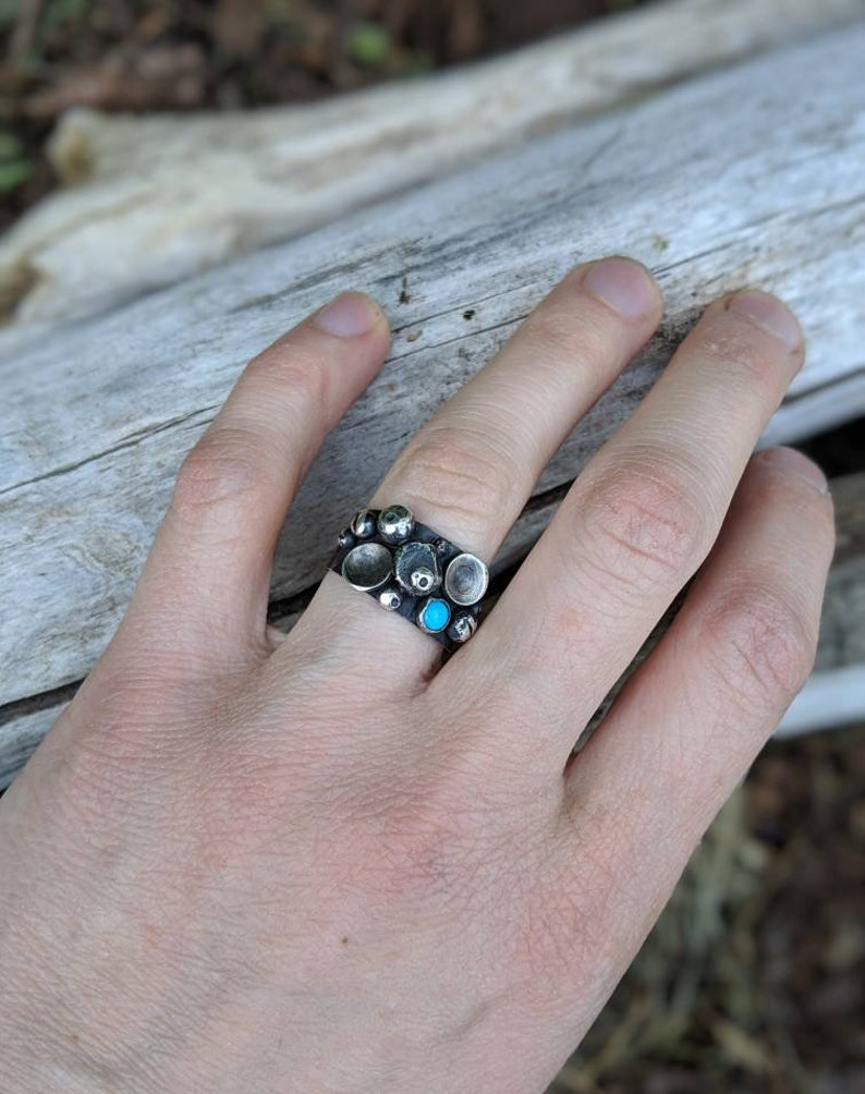 Turquoise Barnacle Ring