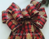 Christmas Tree Bows Red.Gold Christmas Tree Red Black Buffalo Check Wreath Bows Red Black Buffalo Tree Bows Gold Tree Christmas Buffalo Plaid Bow Lantern Bow