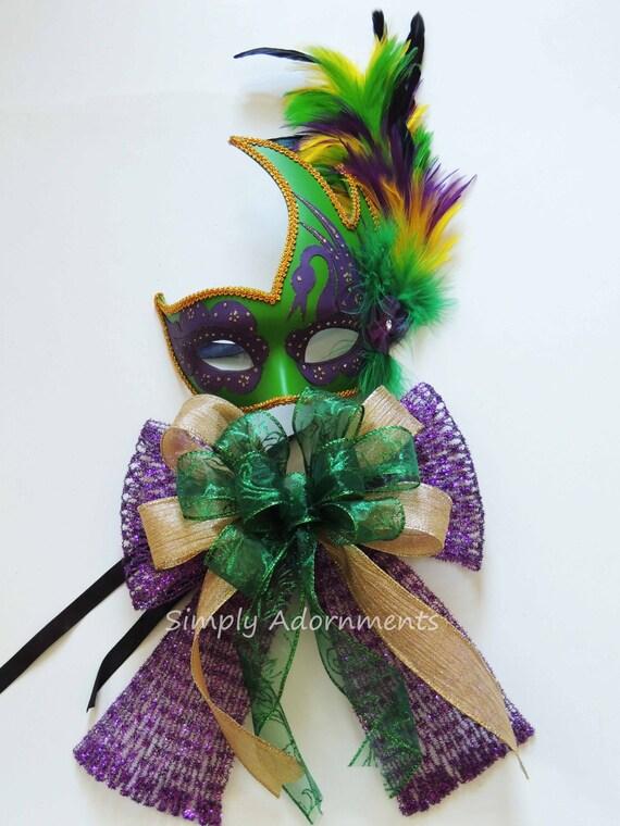 Mardi Gras Christmas Wreath Bow Purple Gold Green Wreath Swag Bow Mardi Gras Gift Bow Mardi Gras Door Hanger Decoration Mardi Gras Pew Bow