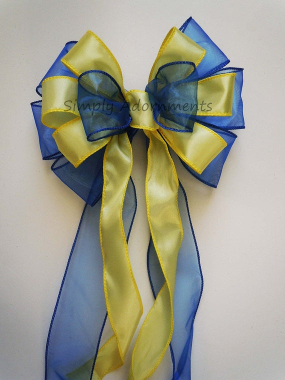 Royal Blue Yellow Wedding Decoration Bow Shower Party Decor | Etsy