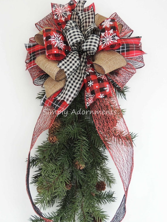 image 0 - Red And Black Plaid Christmas Decor