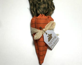 Primitive Carrots - Spring Decorations - Bunny Carrots - Springs Pickins - Easter Decor - Rabbit Food - Farmhouse Decor - Primitive Decor