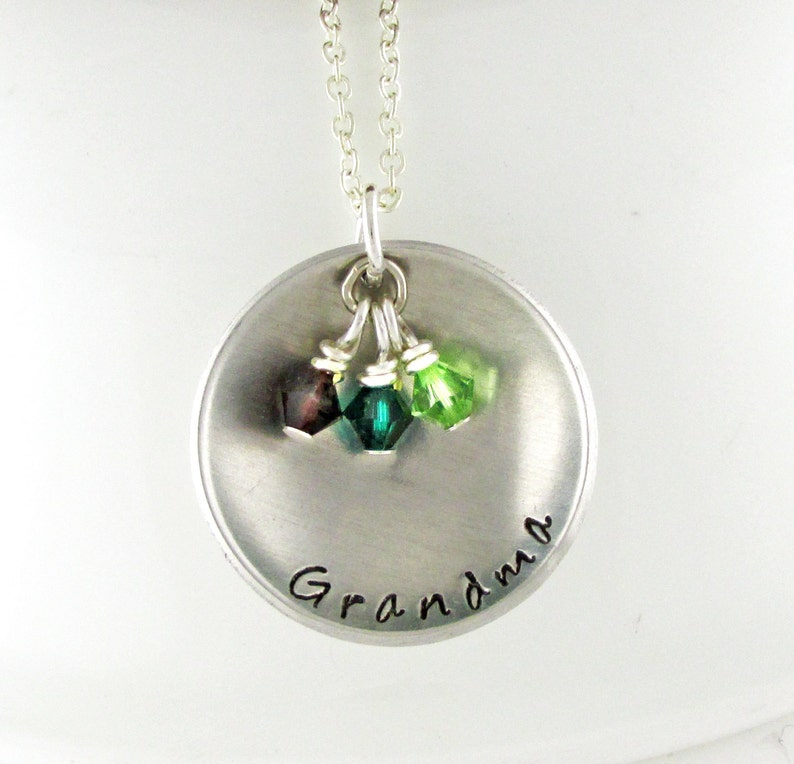 Grandmother jewelry Grandmother gifts Oma Gigi Nana Mimi Grandmother necklace Grandmother gift personalized Grandma.