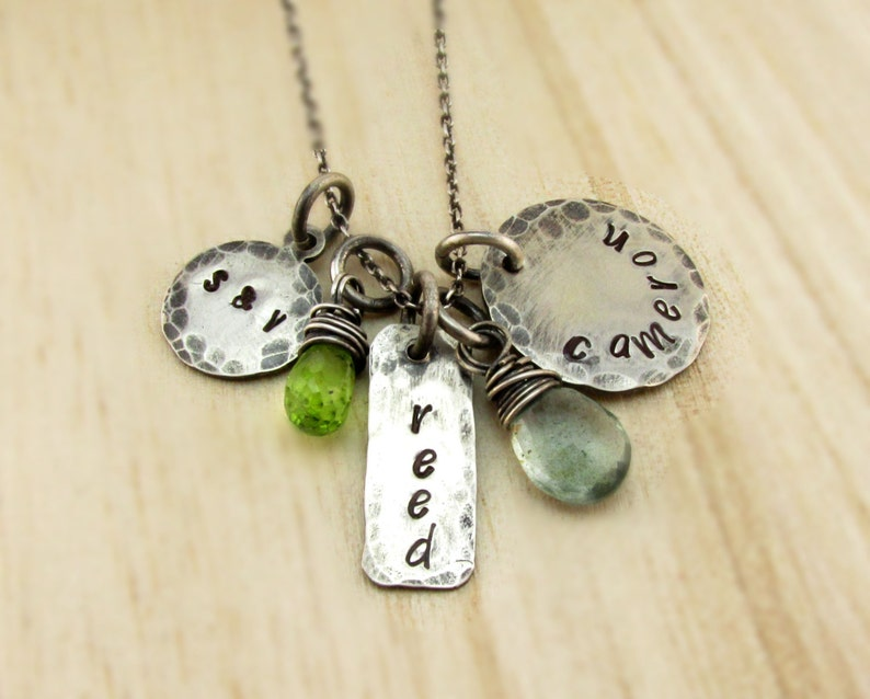 Mother's Necklace Family Necklace Personalized Charm image 0