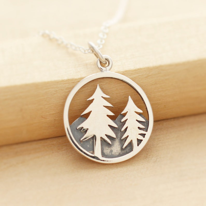 Pine Tree Necklace  Wilderness Jewelry  Fir Tree Necklace  image 0
