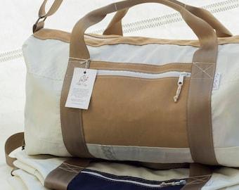 Choptank Duffel Bag, Large Deluxe Sailbag, Recycled Sail Cloth, eco sail bag, recycled luggage, eco bag, sail bag