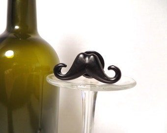 Handlebar Mustache Bottle Stopper