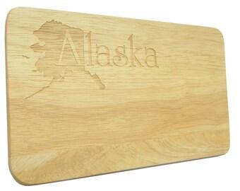 Brotbrett Alaska USA Engraving Breakfast Board Wood-Breakfast Board-engraving