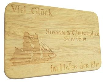 Brotbrett Wedding engraving Breakfast Board marriage-Breakfast board-engraving-marriage-wedding-text of your choice