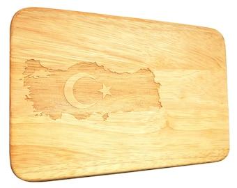 Breadboard Turkey Turquoise Breakfast Board Turkish Serving Board Gift Idea