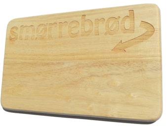 Breakfast board Smørrebrød Brotbrett Danish-Breakfast board-engraving-Danish-Dansk