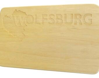 Breakfast Board Wolfsburg engraving Brotbrett Wood-Breakfast Board-engraving