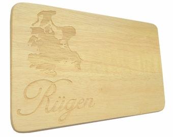 Brotbrett Rügen Engraving Breakfast Board solid wood-Breakfast board-engraving