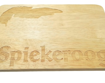 Brotbrett Spiekeroog engraving Island North Sea Wood-breakfast board-engraving