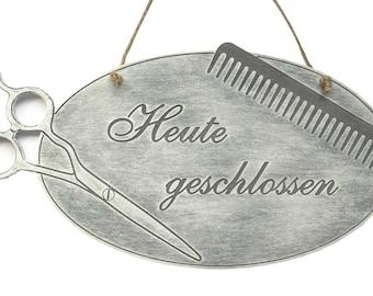 Door sign Barber shop sign hairdresser-door sign-shop sign hairdresser barber hair Stylist-engraving-text of your choice