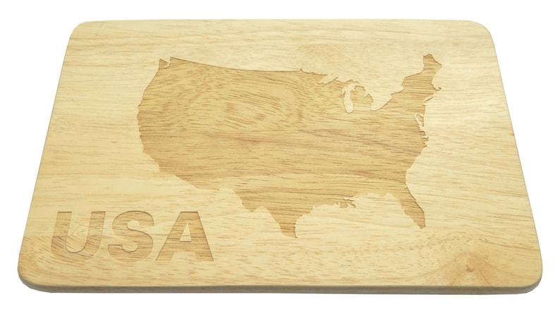 Breakfast Board USA American engraving Brotbrett Wood-Breakfast Board-engrave