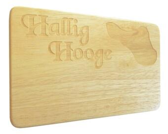 Breakfast board Hallig hooge North Sea engraving wood-Breakfast Board-engrave