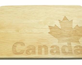 Breakfast Board Canada Brotbrett Canada Engraving-Breakfast board-engrave-Maple Leaf