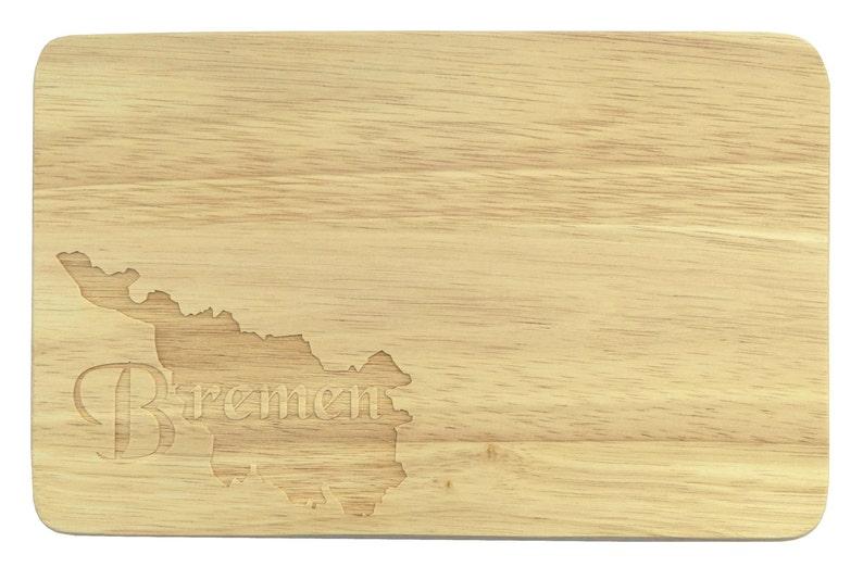 Brotbrett Bremen engraving Wood Hanseatic City Weser-Breakfast board-engraving