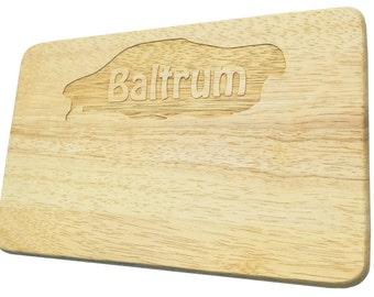 Breakfast board Baltrum engraved North Sea Island Wood-breakfast boards-engraving