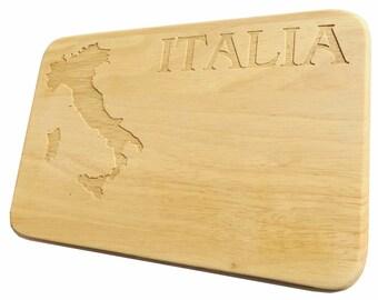 Brotbrett Italia Breakfast Board Italy-Breakfast board Italy-engraving-wood