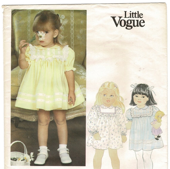 SEWING PATTERNS Paper Pattern Printed pattern DOUBLE BREASTED DRESS for BABY