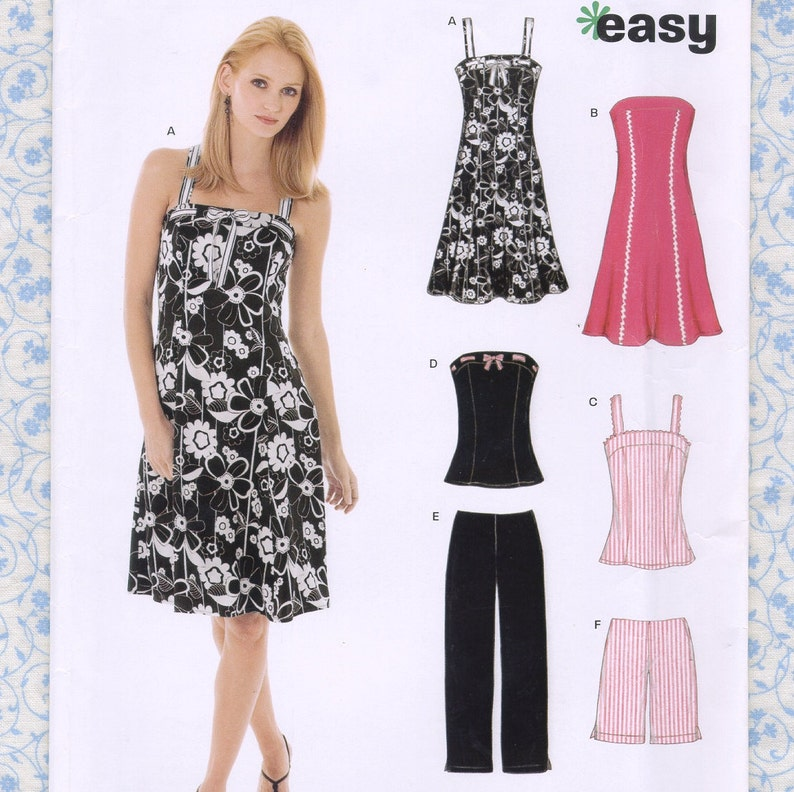 cc93d255648 New Look 6468 Womens Sewing Patterns for Strapless Dress