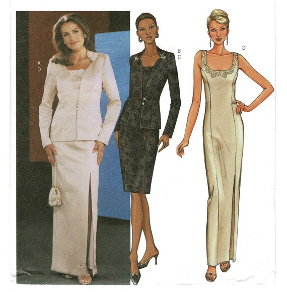 Misses Formal Long Evening Dress Butterick 3643 Sewing Etsy