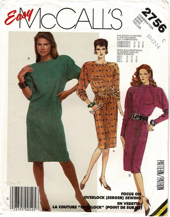 McCalls Pattern 40 EASY Misses Straight Pullover Dress Etsy Classy Mccalls Patterns