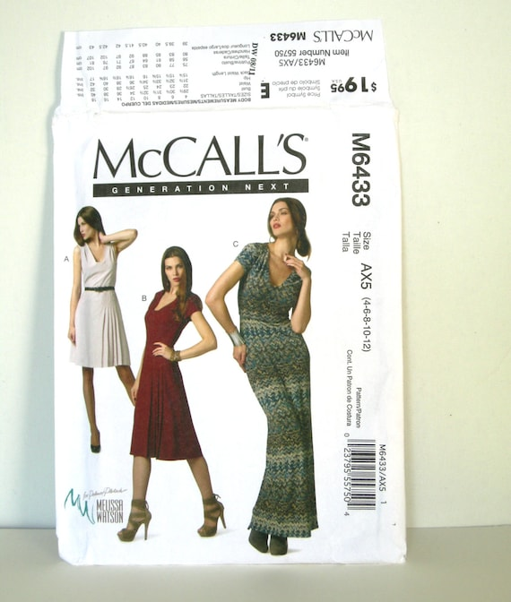 Mccalls 6433 Misses Fitted Dress Sewing Patterns For Women Etsy