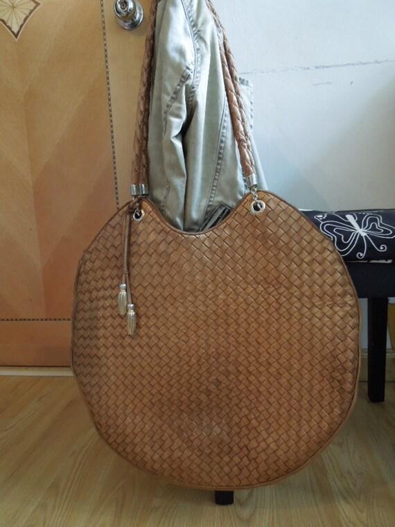 f9dcc36571 Authentic Vintage BOTTEGA VENETA Large Bronze Woven Leather