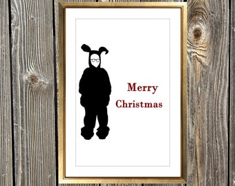 A Christmas Story Inspired Art Print - Oh Fudge It's Christmas   Home Decor