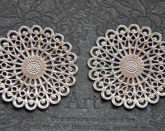 50 Bronze DIY Filigree Leaves Warps Embellishments Findings Art Deco Craft