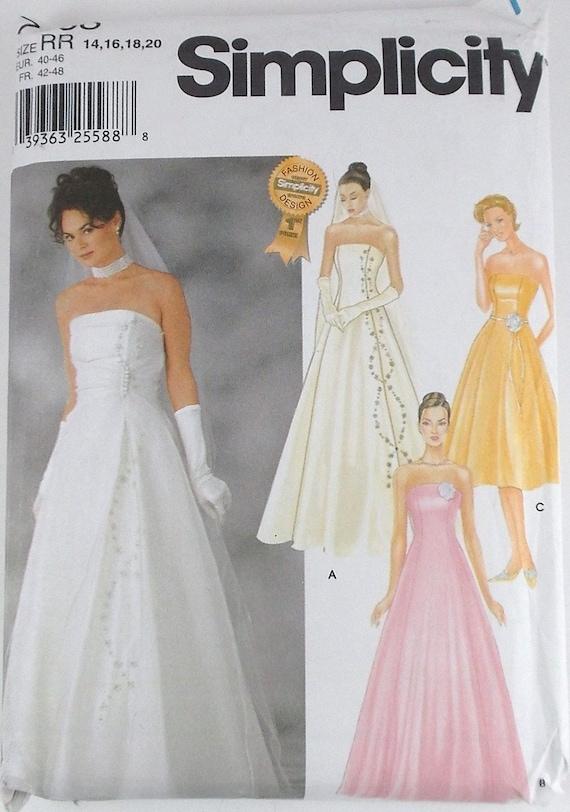 Misses Wedding Dress Simplicity Pattern 7068 Bridesmaid Dress | Etsy