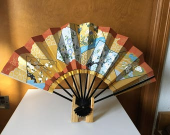 Quality Japanese display fan with stand.