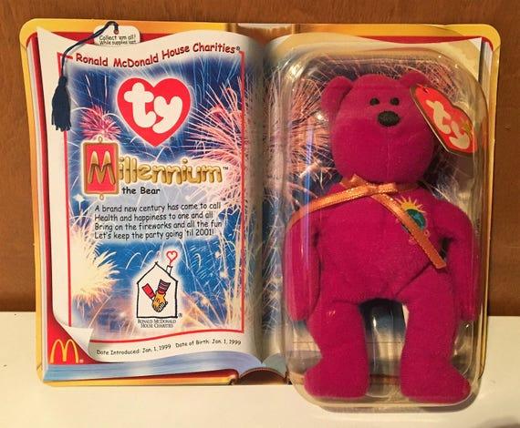 Millenium Bear McDonalds promo Beanie Baby.  41a6ff8b0d4