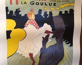 Poster  Toulouse -Lautrec's Moulin Rouge.