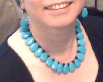 Turquoise Cleo collar.
