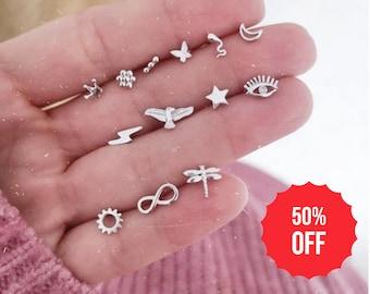 Stud Earrings Sterling Silver - Earrings Studs UK , 925 Silver Earrings, Earrings Silver, Dainty Studs, Tiny Stud Earrings FREE Fast Ship