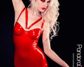 SpellBound Latex Dress with  V Harness - Pandora Deluxe