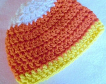 Candy Corn Crochet Hat Style 001 - Made To Order