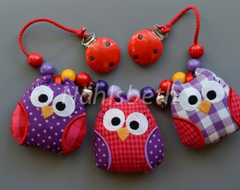 Pushchair chain Owls - The ORIGINAL -