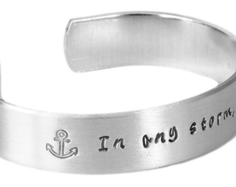 Inspirational Gift   Gifts for Friends   Daughter Gifts   Sister Gifts   In any storm, I refuse to sink Bracelet