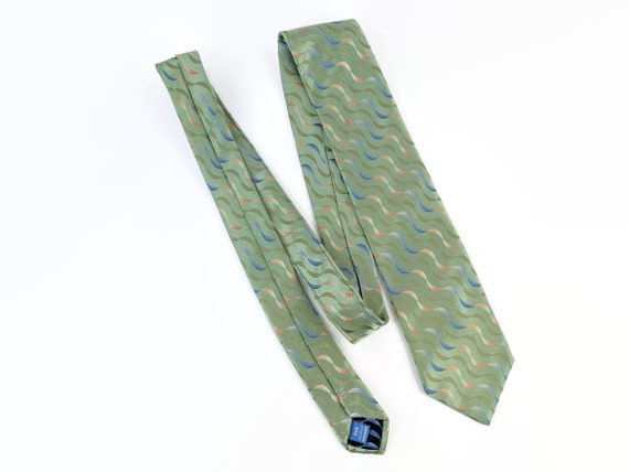 Vintage Haines and Bonner of London Tie Pure Silk Blue and Pink Geometric Square  Necktie 58 x 3.25 Vintage Tie Shop T1186