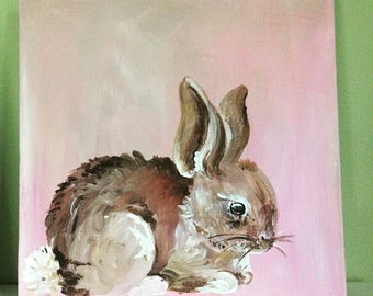 Sweet Little Bunny Painting